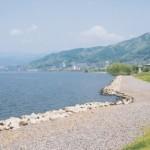 諏訪湖の渚