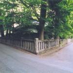 八剣神社の脇道