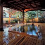 旅館の露天風呂
