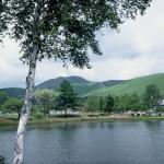 白樺湖と車山(茅野市)
